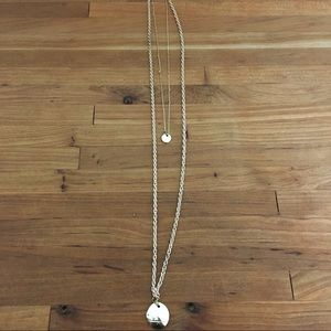 Urban Outfitters Boho delicate 2 charm necklace